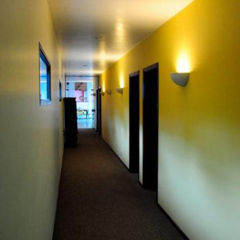 corredor acomodações